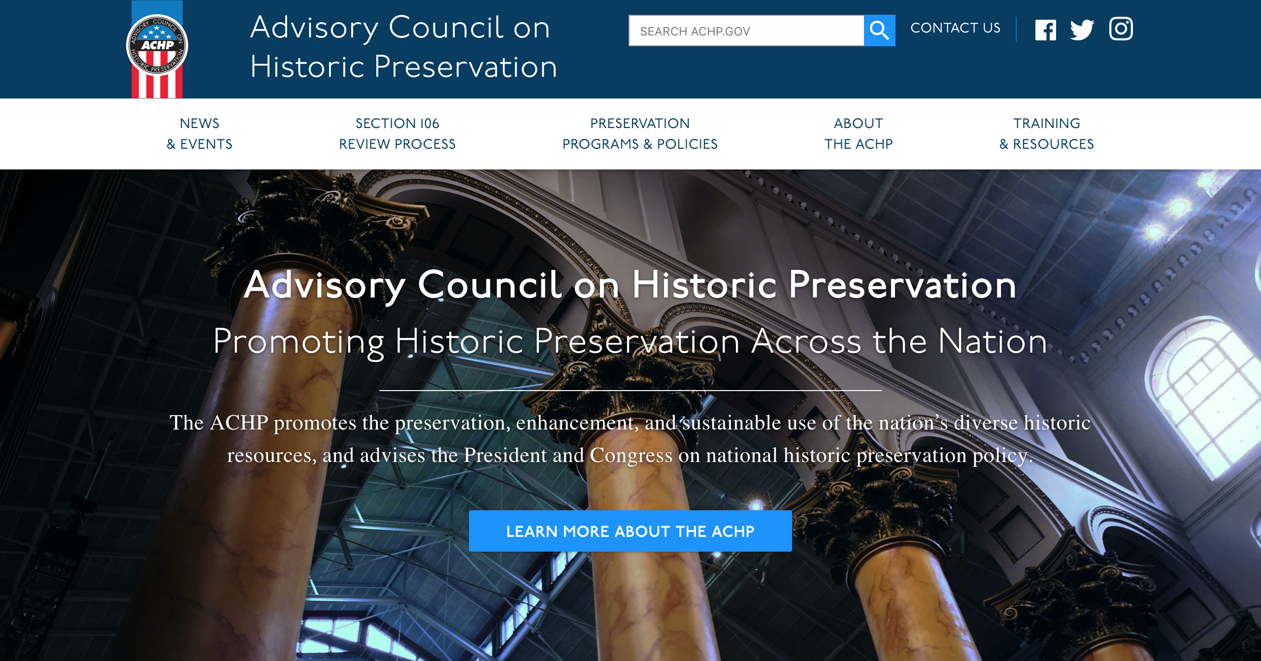 Advisory Council on Historic Preservation website